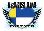 Brand NEW Printed T-SHIRT Quality BRATISLAVIA FOREVER Flag All Sizes All Colours