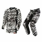 Oneal MX Element Wild Black/White Motocross Dirt Bike Youth Gear Set 2015