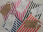 100 Striped Sweet Bags - Weddings, Christenings,Candy Buffet, Personalised Tags