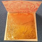 "24K PURE EDIBLE GOLD REAL GENUINE LEAF LEAVES SHEET GILDING 1.18"" CRAFT MASK SPA"