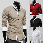 CHEAP LUXURY CHARM MEN'S SLIM LONG SLEEVE CASUAL BUSINESS SHIRT DRSS TOP T-SHIRT