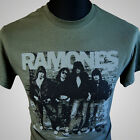 The Ramones Retro T Shirt Music Band Punk Classic Vintage Green