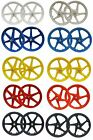 "20"" BMX Mag Wheelset 5 or 6 Spoke Freestyle Retro Bike Colour Wheels"