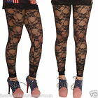 BLACK LACE LEGGINGS  GOTH ALTERNATIVE INSANITY SIZE 6-16