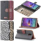 New Wallet Folio Leather Luxury Case Cover Card Pouch For Samsung Galaxy Note 4
