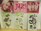 New JAZ! Temporary Tattoo Glittery Body Sticker ~ Choose Ur Design A,B,C ,D or E