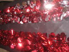 """ultra delux Christmas Foil Ceiling Decoration 6"""" x 6.5ft red and silver /red fab"""