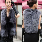 Luxury Faux Fur Vest Jacket Coat Winter Women Waistcoat Top Outerwear Size S-XXL