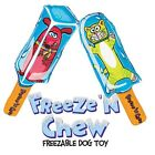 FREEZE 'N CHEW - Freezable Dog Toy Fat Cat Crackle Good for Teething Puppies
