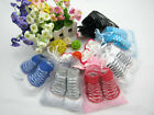 Infant Baby Socks Anti Slip Solid Toddlers Cotton Newborn Booties 3-12M US