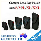 Camera Lens Case Bag Pouch Soft Protector For DLSR SLR Canon Nikon S M L XL XXL