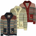 Soul Star New Men's Shawl Neck Button Cardigan Nordic Norwegian Knitted Cardi