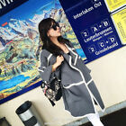2014 Fashion Womens Cashmere Blend Long Sleeve Loose Cardigan Sweater Long Coats