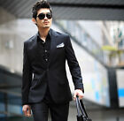 Brand New Mens Black Wedding Tuxedos Groomman Graduation Suits Jacket Pants Set
