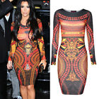 ❤HOT Sale❤ Womens New Celebrity Aztec Tunic Midi Bodycon Party Dresses Plus Size