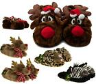 WOMEN'S FUR LINED WARM WINTER DUNLOP CREATURES NOVELTY ANIMAL COSY SLIPPERS