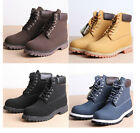 Mens Military worker Chic Leather basic chukka waterproof lifestyle ankle boots