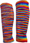 FAIR TRADE WOOL & FLEECE LINING BOHO SLOUCH HAND KNIT LEG WARMERS DANCE BALLET