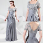 Victorian Lace Chiffon Cocktail Party Long Prom Evening WEDDING GOWN Dresses NEW