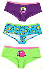 Invader Zim Gir Piggy Mustache Hipster Brief Panties Hot Pants 3 Pack Licensed B