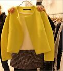 New Fashion Women's Vintage Show Slim Fine Solid Jacket Short Coat Outwear Tops