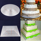 Silver Round Square Cake Drum Boards Strong Base 5-12 inches Large Range Tools