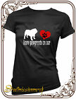 Bulldog,leave paw prints heart,dog,t shirt,S-XXL