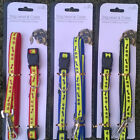 REFLECTIVE DOG LEAD & COLLAR - AVAILABLE IN 3 COLOURS   PAW PRINT DESIGN