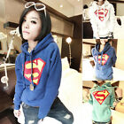 3 Kinds Superman Logo Oversize Sweaters Hoodies Pullover Coat Tops Outerwear NZT