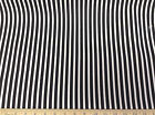 (Swatch Sample) Premier Prints Carrie Stripe Black and White 03PR