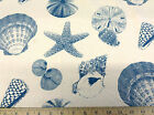 (Swatch Sample) Premier Prints Sea Shells Pacific Teal 14PR