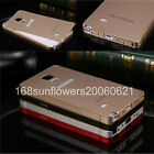 For Samsung Galaxy Note 4 PC Back with Metal Bumper Frame Hard Cover Skin Case