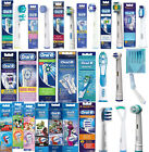 100 % GENUINE BRAUN ORAL-B ORAL CARE ESSENTIALS_ ALL 4 MODELS_TOOTHBRUSH HEADS
