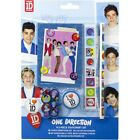 ONE DIRECTION  STATIONERY SET PENCIL NOTEBOOK ERASER SHARPENER RULER