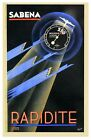 Early Sabena Belgian Airline  Poster  A3 Print