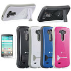 Hybrid Kickstand Heavy Duty Impact Case Cover + Matte Screen Protector For LG G3