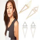 Fashion Vintage Design Geometric Big Triangle Stud Earrings New Good Deal