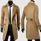 PEA COAT  Mens Smart Jackets Double Breasted Men Blazer Top Man Clothes Parkas