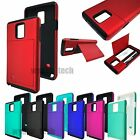 For Samsung Galaxy Note 4 Credit Card Case Hybrid Hard Rubber Tough Cover