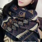 Bohemia Fashion Women Winter Blanket Long Scarf Wrap Shawl Cozy Warm S24