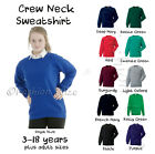 Premium School Sweatshirts Jumper Cardigan Round Crew Neck Ages 2-14 XS-XL