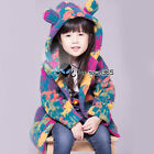 Autumn Winter Warm Baby Girl Kids Child Colorful Coral Velvet Coat Jackets 3-8Y