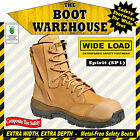 """WIDE LOAD (SP1)  'EXTRA WIDE'  8"""" Zip Side Work Boots.  Composite Toe Safety."""