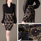 XMAS CHEAP Women V-Neck Bandage Bodycon Lace Evening Party Cocktail Mini Dress 1