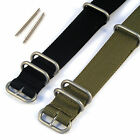 Heavy Duty 3 Ring Nato/MOD Style Military/Divers Watch Strap with Spring Bars