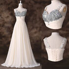 XMAS CRYSTAL LONG Quinceanera Bridesmaid Party Evening Prom Banquet DACNE Dress