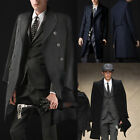 FREE P&P XMAS Fashion Mens D-Breasted Long Trench Coats Jackets Business Outwear
