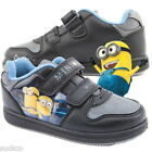 Boys Despicable Me Minion Mishap Velcro Trainers Sizes 7-1 New Gift