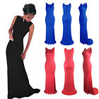 Womens Formal Sleeveless Prom Ball Party Bodycon Maxi Long Evening Dress Gown