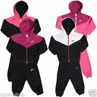 Nike Full Zip Infant's Casual Hooded Tracksuit Long Sleeve Playsuit All Sizes